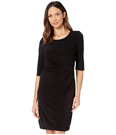 NIC+ZOE Fundamental Drape Dress (Black Onyx) Women