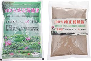 Aquatic Soil for Pond Plants, Pond Potting Media for Aquatic Plants, Natural Lotus Pond Mud Plant Growing Potting Soil for Water Lily Bowl Lotus Aquatic Plant Seed Cultivation, 1Pack,200g
