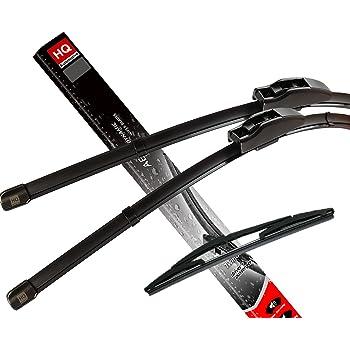 I01 Fit i3 11.2013-up Front /& Rear kit of Aero Flat Windscreen Wipers Wiper Blades AD12-822 HQ11