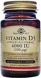 Solgar® Vitamina D3 4.000 UI (100 µg) para el mantenimiento