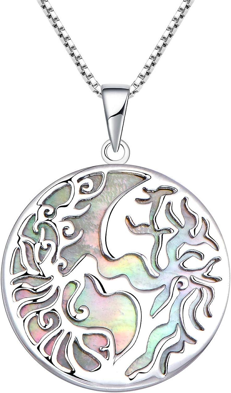 JO WISDOM Tree shop of Life Atlanta Mall Necklace 925 Family Sterling Silver Birth