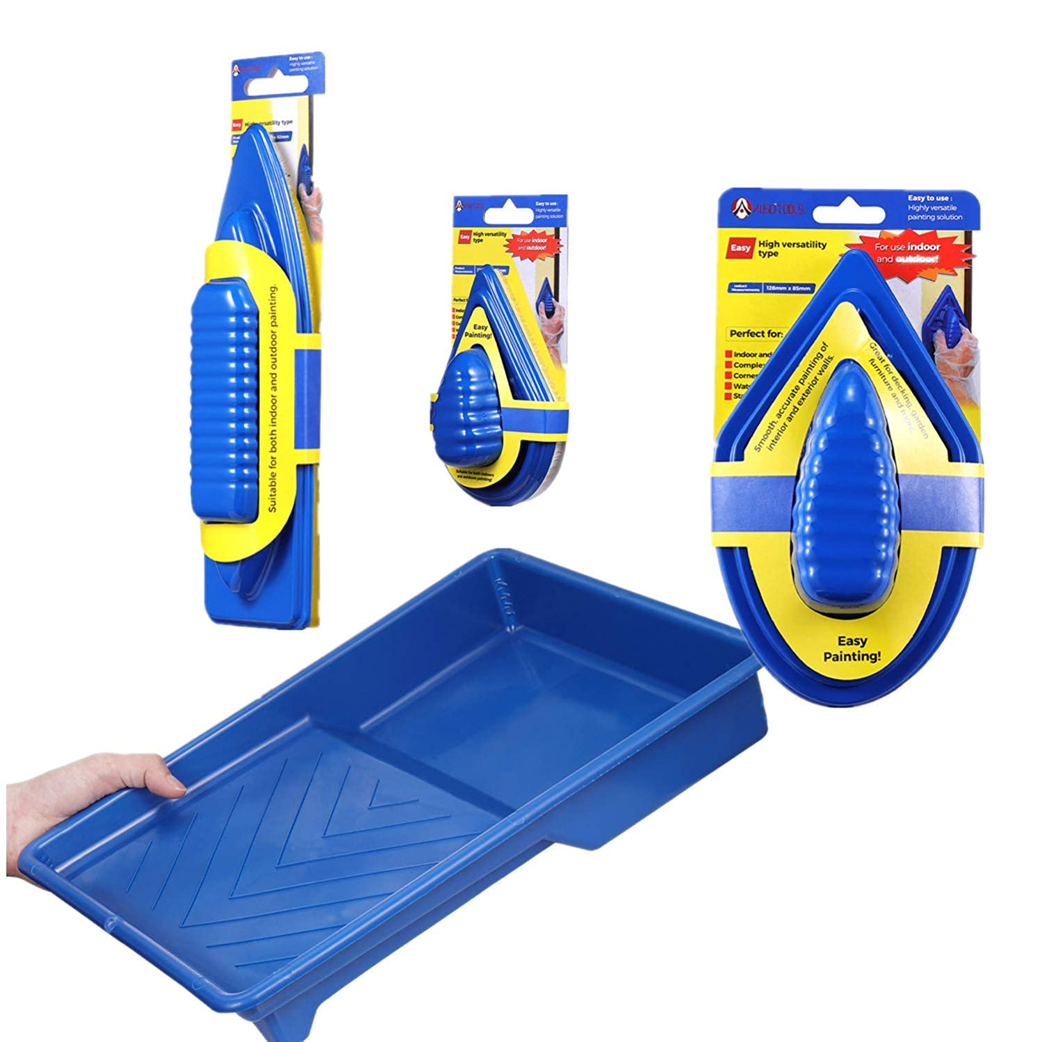 YUKAKI The Best Paint Pad Set with 9 Inch Painting Tray No Smudges No Drips Paint Edger Painting More Accurate Than Paint Roller and Paint Brush House Paint Kit