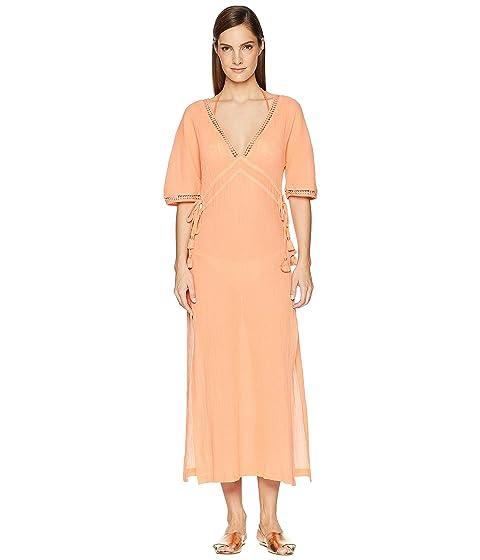 Heidi Klein Costa Rica Lace Trim Maxi Dress Cover-Up