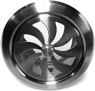 Edelstahl Lüftungsgitter Lamellengitter Wetterschutzgitter Ablufthaube Lufthaube SHL, Durchmesser 125 mm