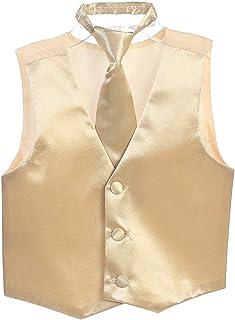 iGirldress Boys SatinVest and Pretied Zipper Necktie Set USA Multiple Colors 2-16
