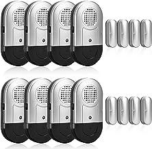 SanJie Door Window Alarm 8 Pack, Magnetic Pool Alarm Sensor,120DB Loud Door Alarms..
