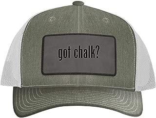 One Legging it Around got Chalk? - Leather Grey Patch Engraved Trucker Hat