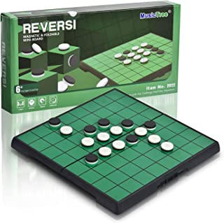 MusicTree Magnetic Reversi Othello Board Game Set with Folding Board Classic Games