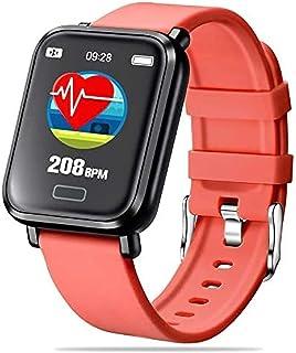 SmartWatch - Reloj inteligente para hombre y mujer, impermeable IP68 con saturímetro, medidor de presión, pulsómetro de muñeca, deportivo, para Android iOS y Android