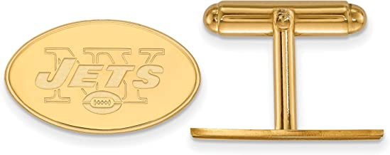Kira Riley Gold Plated New York Jets Cuff Link