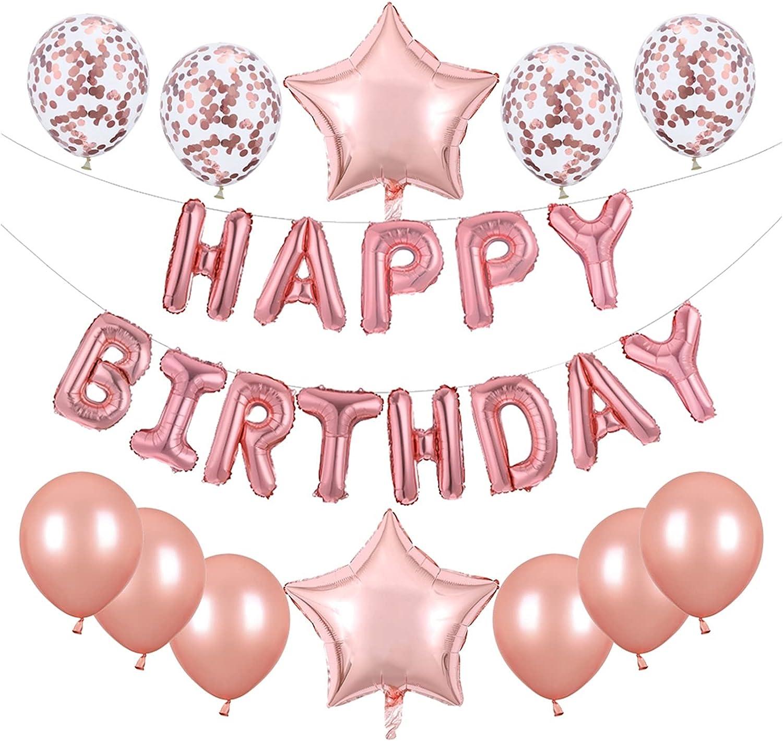 2021 LOUQINGDZ Balloons 25pcs Set Happy OFFer Birthday Foil