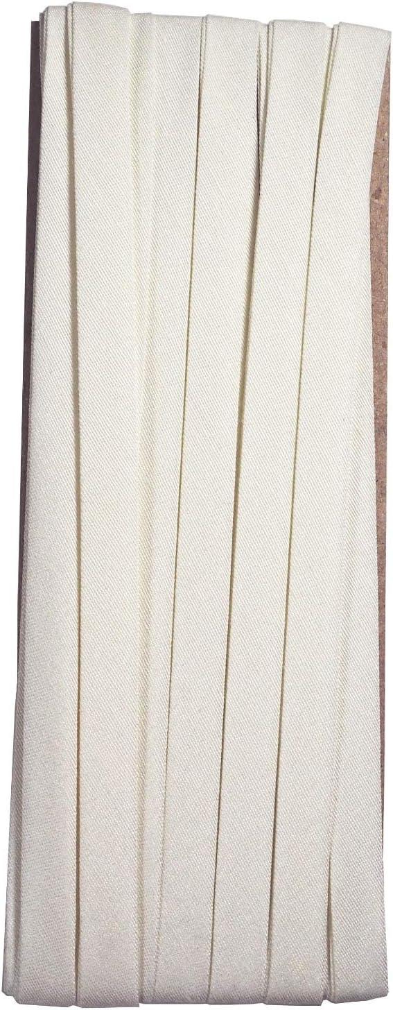 Hobby Trendy Double Fold Cotton Bias Binding Tape 10mm 3//8inch 5yds Cream