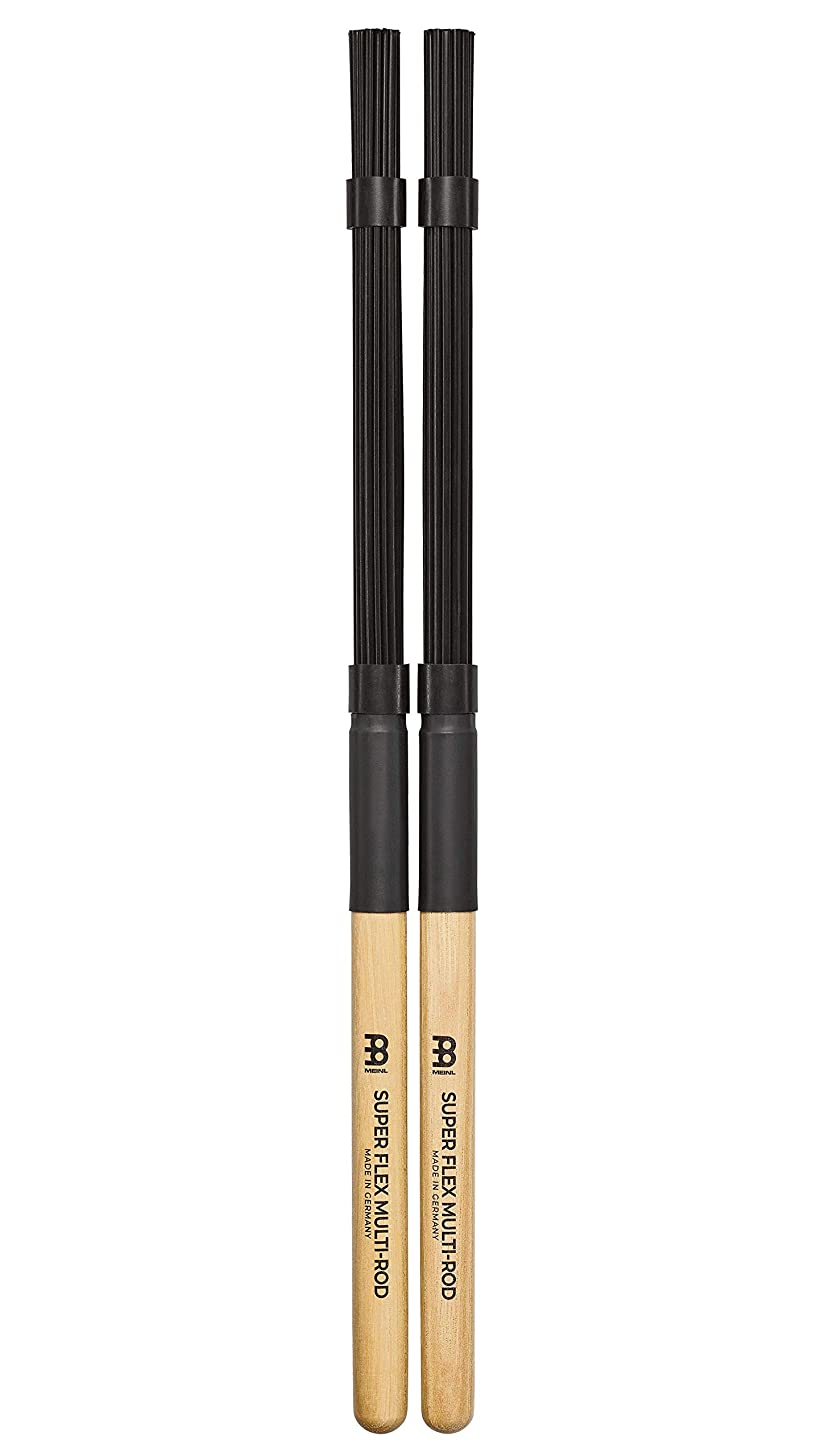 Meinl Stick & Brush Super Flex Multi-Rod Bundle with Nylon Dowels and Wooden Handle - Standard Size SB206