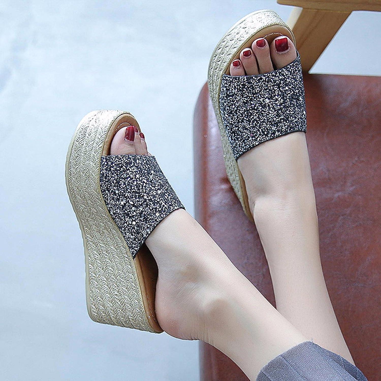 QPSSP Schuhe, Sandalen, Sandalen Und High Heels,36,Schwarz