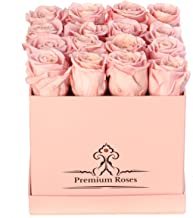 Premium Roses  Real Roses That Last a Year   Fresh Flowers  Roses in a Box (Pink Box, Medium)