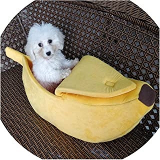 Asteria-Ashley Pet Cat House Dog Bed Banana Shape Dog House Cute Pet Kennel Nest Warm Dog Sofas Cat Sleeping Bed