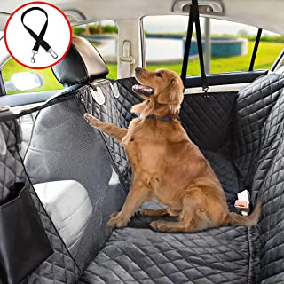 Vailge Dog Seat Cover for Back Seat, 100% Waterproof Dog Car Seat Covers with Mesh Window, Scratch Proof Nonslip Dog Car Hammock, Car Seat Covers for Dogs, Dog Backseat Cover for Cars Trucks SUV