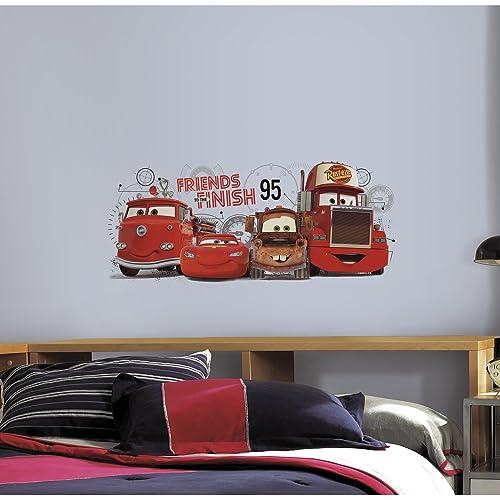 6 feuilles Walltastic Kits de d/écoration   Cars de Disney 41479-46 x 34 cm