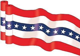 "36"" X 100' HEAVY DUTY 2.5 mil Patriotic Print Plastic Bunting Roll"