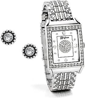 Twinkle Diamond Bar Gift Set [Earrings, Watch]