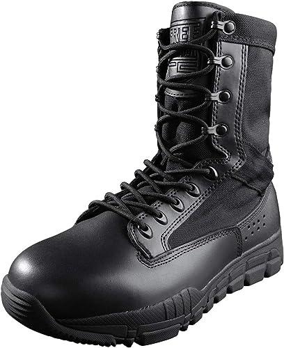 Libre Solider bottes de combate Para Hombre chaussures de cadete Con Cordones militares Con Cuero de gamuza Para caminatas Escalada Motocicleta Trabajo Bota de patrulla táctica Ligera