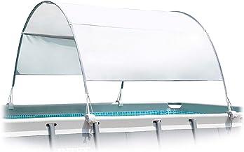 Intex 55246 - Toldo solar piscina, para piscinas desmontables, largo 180 cm, con protección UV+50, tejido impermeable, fácil de instalar, Metal Frame
