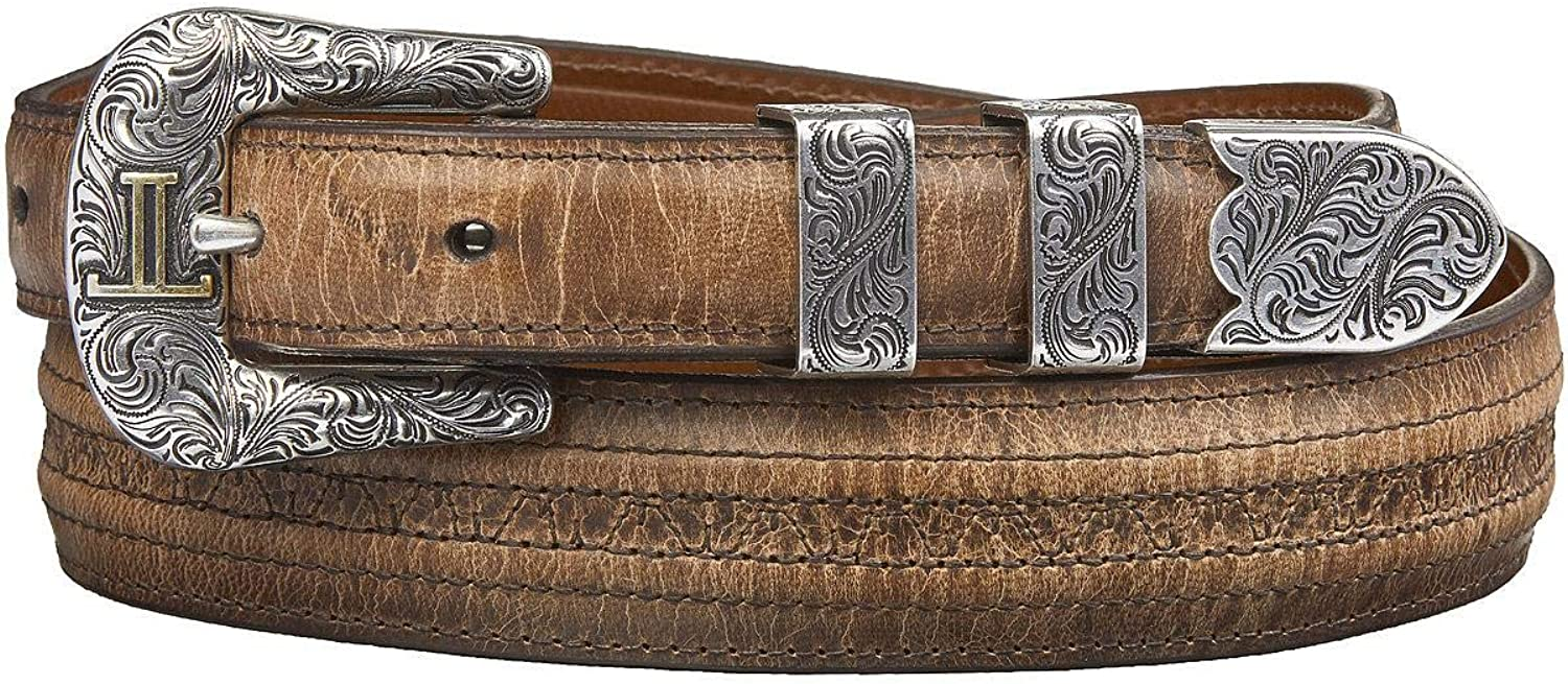 Lucchese Men's Mad Super intense SALE Dog Goat With Stitch latest Hobby Belt Tan 30