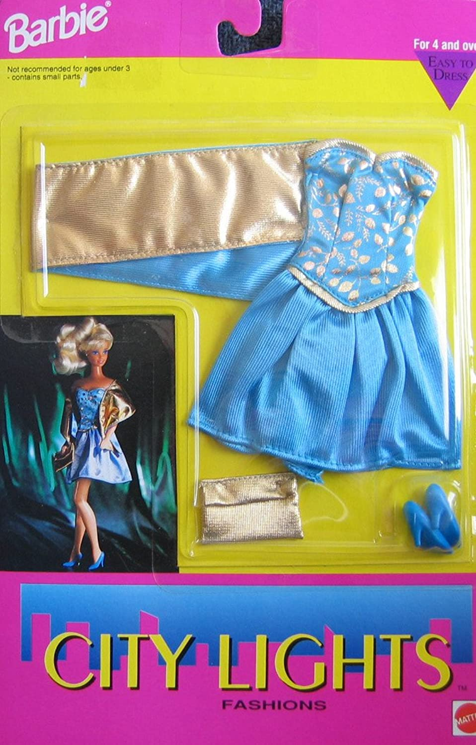 Barbie City Lights Fashions  Easy To Dress (1992 Arcotoys, Mattel)