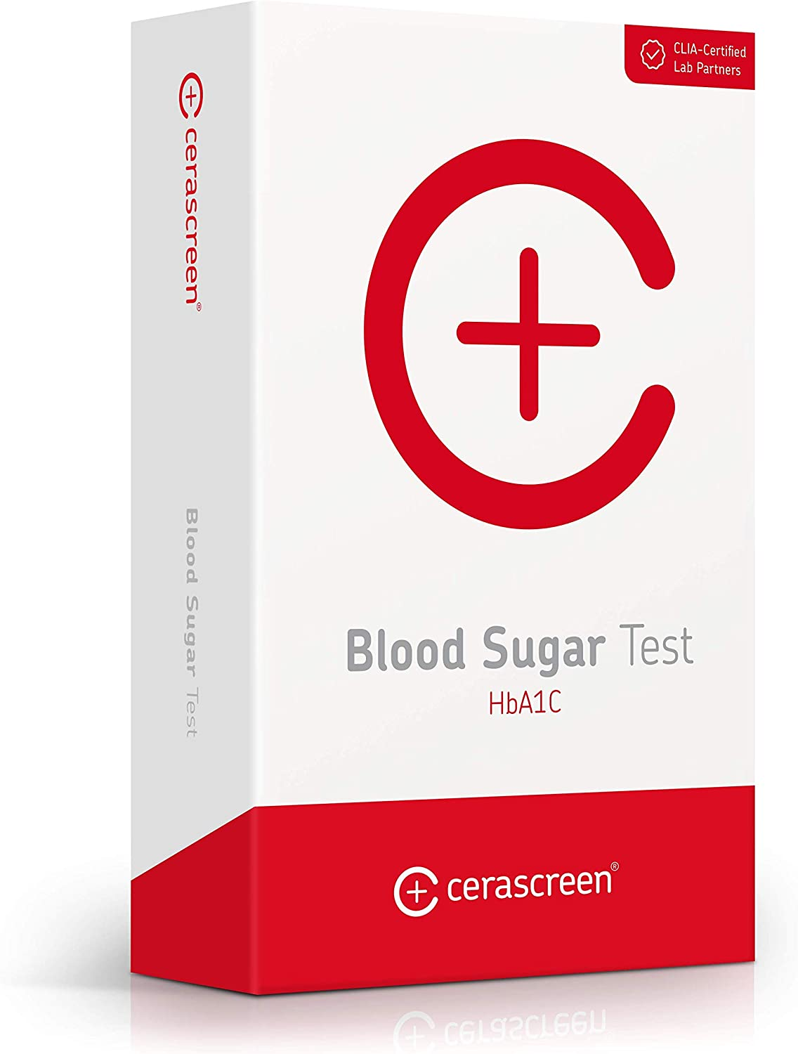 Blood Sugar HbA1c Test by CERASCREEN | Professional CLIA-Certified Lab Analysis | Convenient at-Home Test | Health Screening | Determine Your HbA1c Value | Fast Results | Comprehensive Results Report