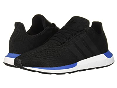 adidas Originals Kids Swift Run J (Big Kid) (Black/Blue) Boys Shoes