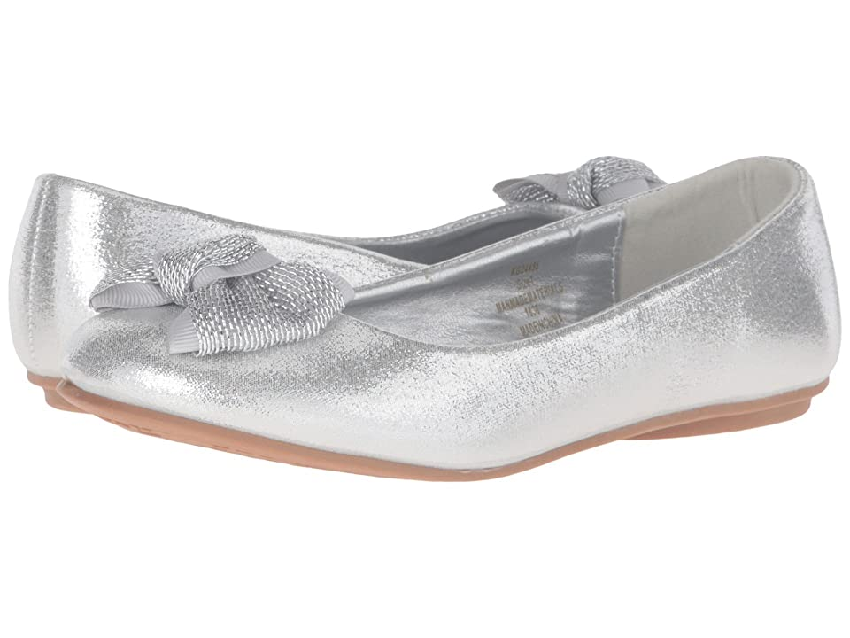 kensie girl Kids Glitter Bow Ballet (Little Kid/Big Kid) (Silver Shine) Girls Shoes