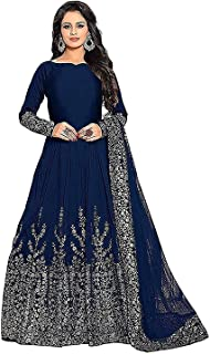 Dhyani Creation Woman's Exclusive Tapeta Silk Anarkali Gown (Free Size)