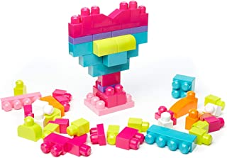 Mega Bloks First Builders Building Bag 60pcs Classic, Pink DCH54
