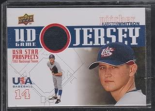 2009 Upper Deck Karsten Whitson USA Game Used Jersey Baseball Card #GJU-19