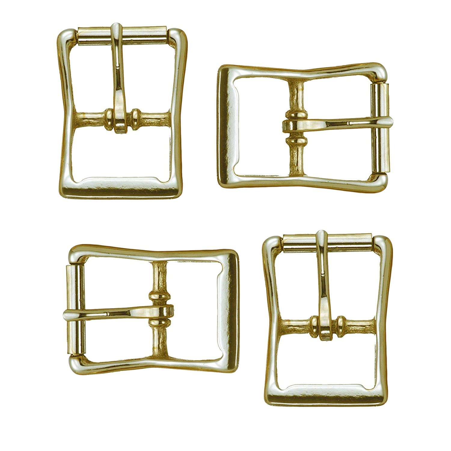 Multi-Pack of Solid Brass #150 Roller Buckles, Pack of 4 Buckles, Great for Marine, Outdoor, and Tack Applications, Will Not Rust (3/4