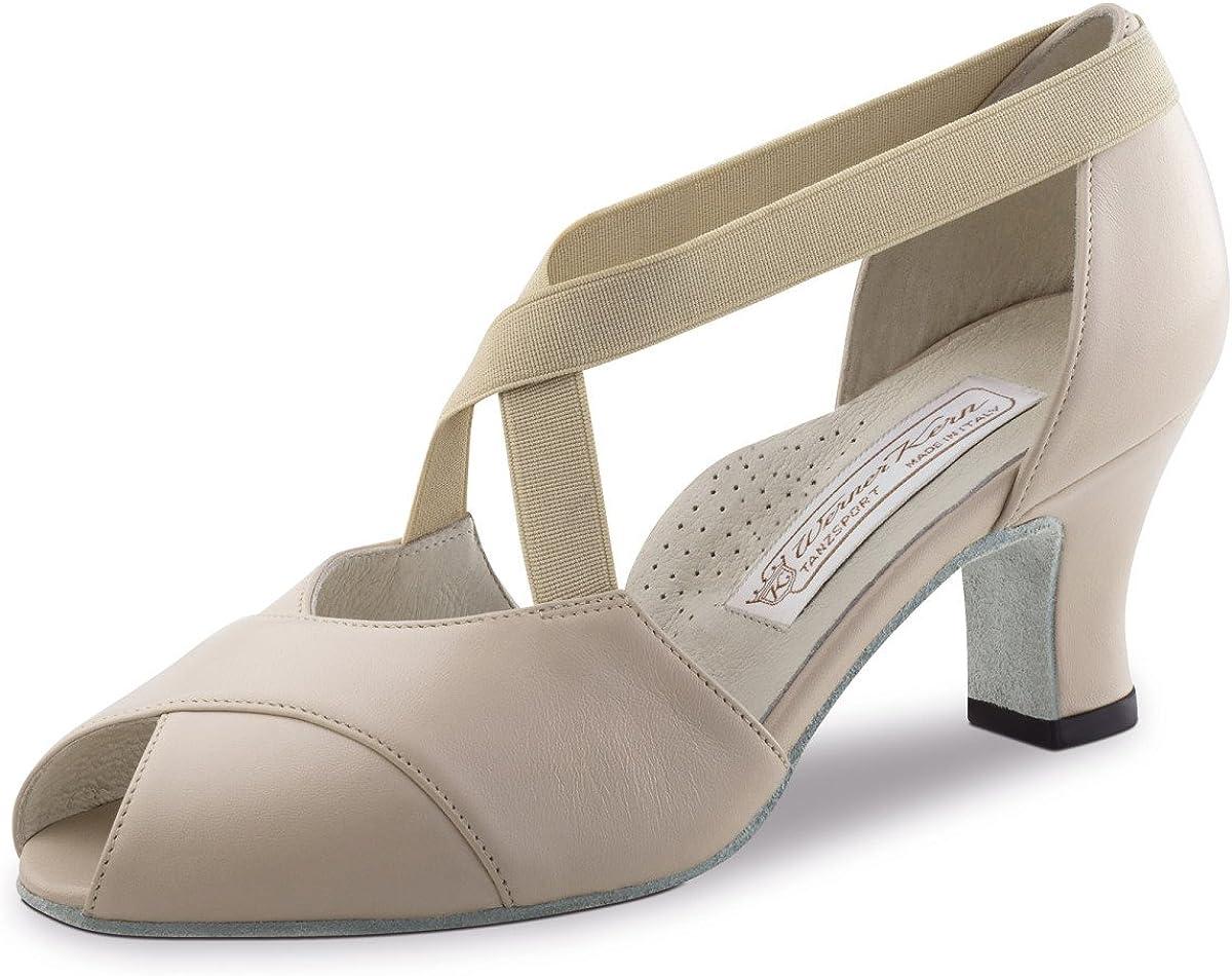 Werner Kern Ladies Dance Shoes Kelly - Leather Beige - 6 cm