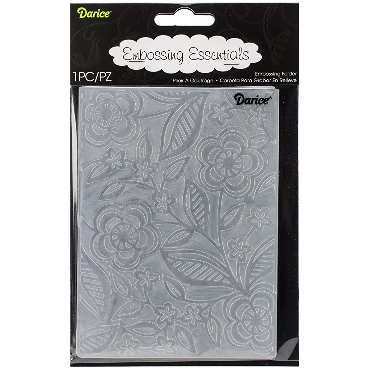Darice Embossing Folder, 4.25 by 5.75-Inch, Dainty Flower