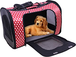 Jainsons Pet Products Travel Soft-Sided Pet, Dog, Cat Carrier, Airline Approved Color and Print May Vary