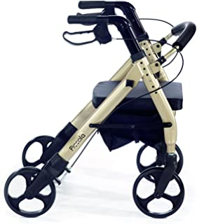 Comodità Piccola (Petite) Heavy Duty Rollator Walker with Comfortable 15