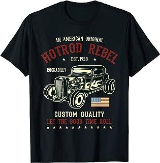 Hotrod Tshirt Rockabilly Vintage American Classic Cars Gifts