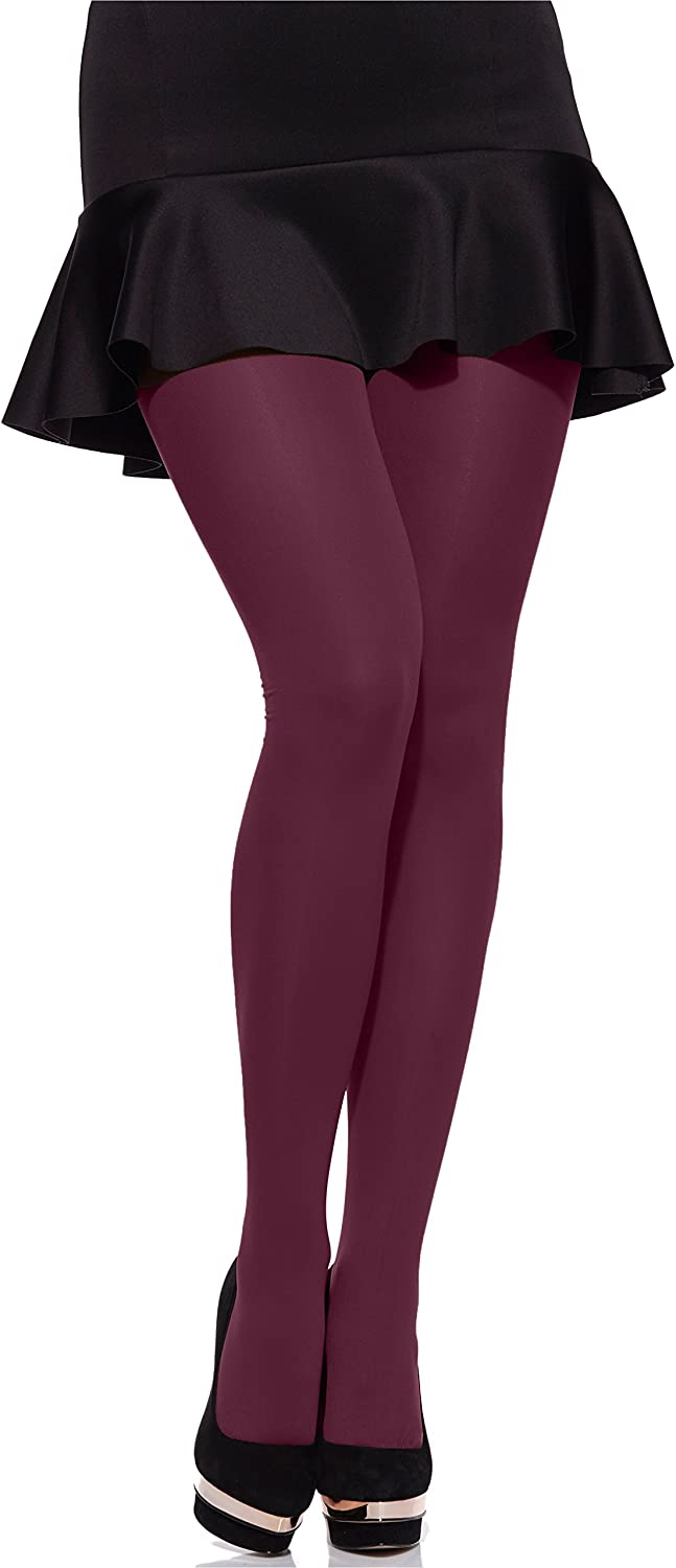 Merry Style Womens 60 DEN Microfiber Tights Plus Size MS 162
