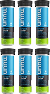 Nuun Energy: Fresh Lime Electrolyte +Caffeine Drink Tablets (6 Tubes of 10 Tabs)