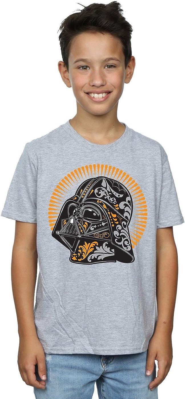 STAR WARS Boys Darth Vader Dia De Los Muertos T-Shirt 12-13 Years Sport Grey