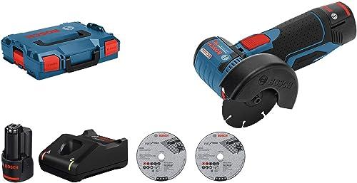Bosch Professional Meuleuse d'angle Sans Fil GWS 12V-76 (Batterie 2x 3,0Ah, 12V, Ø de Perçage:10mm, dans Coffret L-Boxx) product image