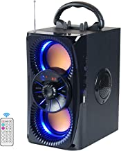 Bluetooth Speakers, Portable Wireless Speaker with Lights, Double Subwoofer Heavy Bass, FM Radio,...