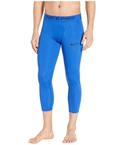 Nike Nike Pro Tights 3/4 (Game Royal/Black) Men