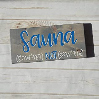Ruskin352 Sauna Sign Finnish Sign Finnish Heritage Wood Sign Gift for him Funny Wood Sign Gift Minnesota Sign Sauna Decor Wood Sign Gift for Parents Sign