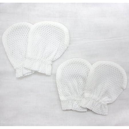 日本製綿100%のメッシュ ベビーミトン2組セット