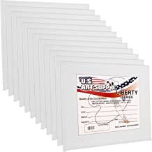 US Art Supply 5 X 5 inch Professional Artist Quality Acid Free Canvas Panel Boards for Painting 12-Pack (1 Full Case of 12...