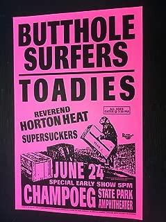 Butthole Surfers Reverend Horton Heat Toadies Rare Punk Flyer Concert Gig Poster